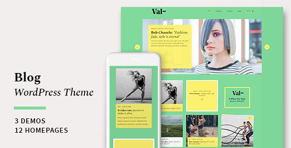 Val – Blog WordPress Theme