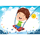 Free Download Vector Illustration Of Kid Swinging Nulled
