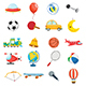Free Download Vector Illustration Of Kids Toys Nulled