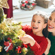 Free Download Mom and daughter decorate the Christmas tree Nulled