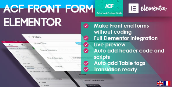 ACF Front Form for Elementor Page Builder - CodeCanyon Item for Sale