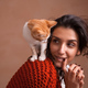 Free Download Little kitten on woman shoulder Nulled