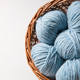 Free Download Closeup of basket with colorful yarn clews Nulled
