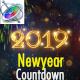 New Year Countdown 2019 - Apple Motion - VideoHive Item for Sale