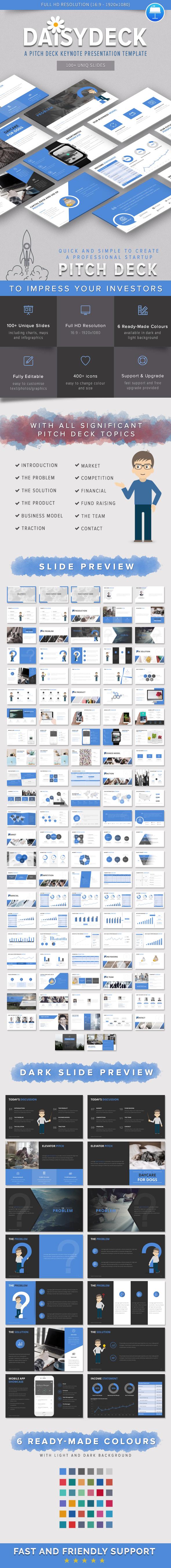DaisyDeck – A Pitch Deck Keynote Presentation Template - Keynote Templates Presentation Templates