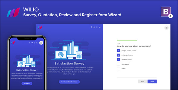 Wilio - Survey and Multipurpose Form Wizard