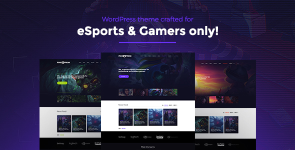 PixieFreak | eSports gaming theme for teams & tournaments