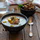Free Download Salmon and cream soup lohikeitto, close view Nulled