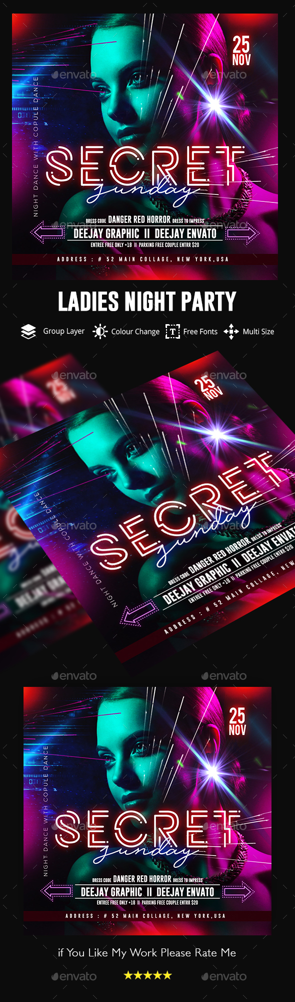 Nights Flyer Template