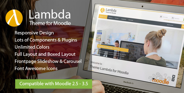 Lambda - Responsive Moodle Theme - Moodle CMS Themes