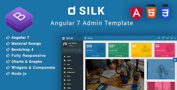 Silk - Angular 7+ & Bootstrap 4 Admin Template - Admin Templates Site Templates