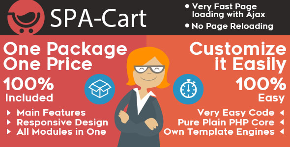 SPA-Cart. Single Page Application. Super fast CMS. A lot of features. Adaptive/mobile skin. - CodeCanyon Item for Sale