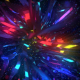 Cosmic Polygonal Neon Flower 4K - VideoHive Item for Sale