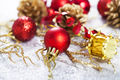 Red christmas decorations isolated - PhotoDune Item for Sale