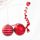 Red christmas baubles isolated - PhotoDune Item for Sale
