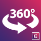 360° Photo Viewer + Section background for Elementor