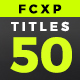 FCPX Titles 50 - VideoHive Item for Sale