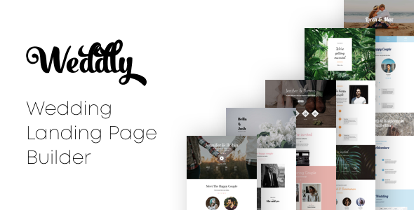 Weddly - Wedding Landing Pages with Page Builder