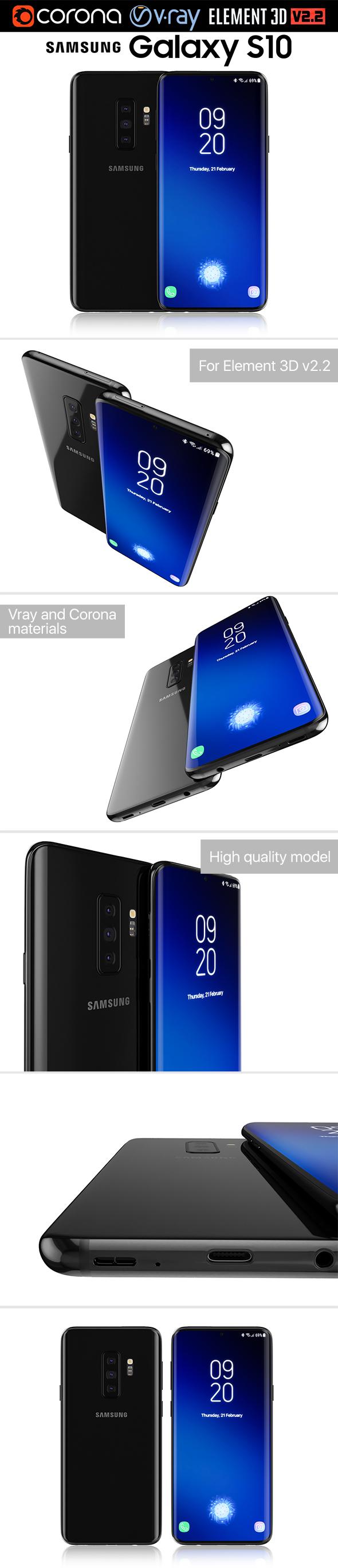 Samsung GALAXY S10 v1 - 3DOcean Item for Sale