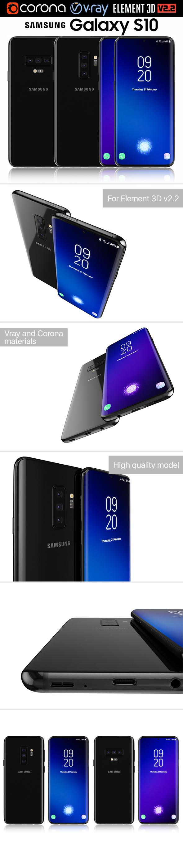 Samsung GALAXY S10 - 3DOcean Item for Sale