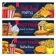 Vector Fast Food Banners for Restaurant - GraphicRiver Item for Sale