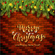 Christmas Lettering on Brick Wall Background with Holiday Decorations - GraphicRiver Item for Sale