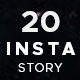 20 Instagram stories - GraphicRiver Item for Sale
