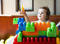 Child playing with cubes - PhotoDune Item for Sale