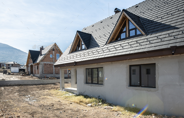 New build houses - Stock Photo - Images