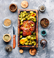 Meat steak with brussels sprouts - PhotoDune Item for Sale