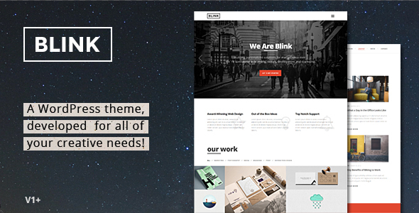 Blink – Parallax One Page WordPress Theme Free Download