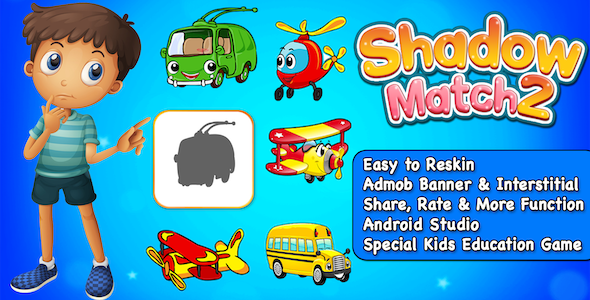 Shadow Match 2 - Puzzle Game For Kids + Ready For Publish + Android - CodeCanyon Item for Sale