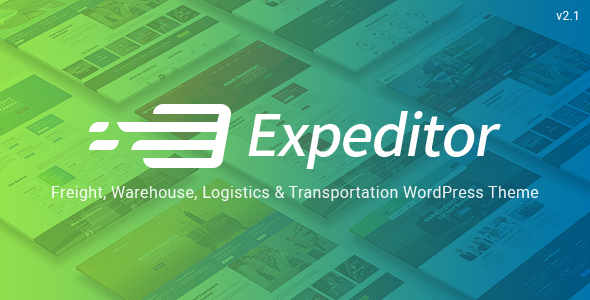 Expeditor - Logistics & Transportation WordPress Theme - Business Corporate