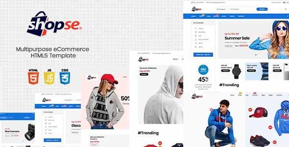 Shopse - Multipurpose eCommerce HTML5 Template