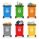 Recycling Garbage Cans Trash Separation Isolated - GraphicRiver Item for Sale