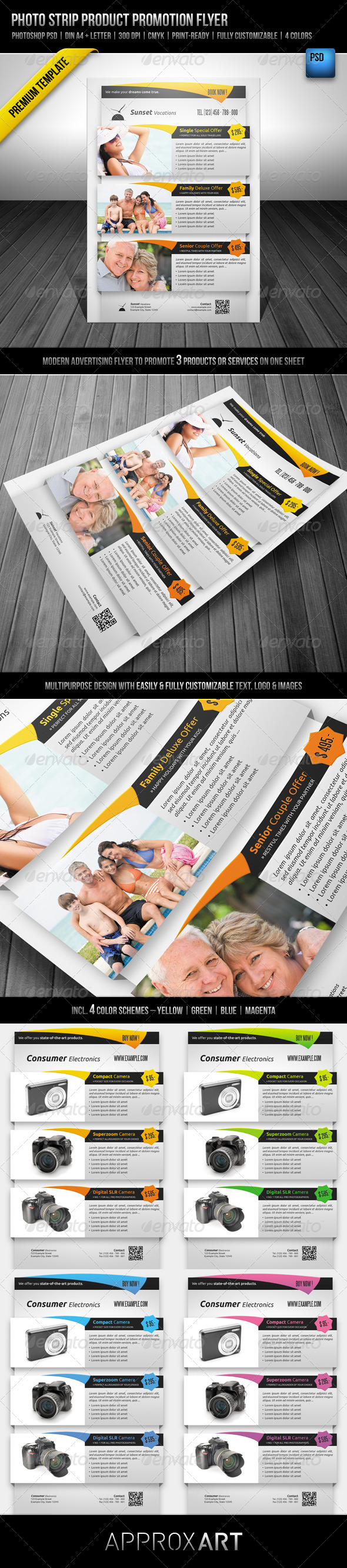 Photo Strip Product Promotion Flyer - Commerce Flyers