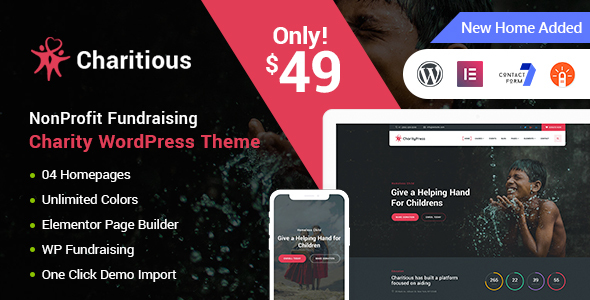 2 4 3] Charitious - NonProfit Fundraising Charity WordPress