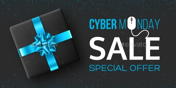 Cyber Monday Sale Poster or Banner - Miscellaneous Seasons/Holidays