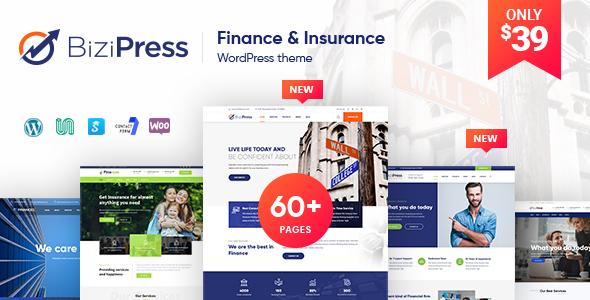 BiziPress - Finance Insurance Consulting Business WordPress Theme - Business Corporate