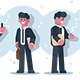 Set of Cartoon Businessmen Character Design - GraphicRiver Item for Sale