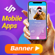 Mobile Phone Apps Banner Ads - GraphicRiver Item for Sale