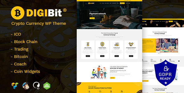 DigiBit - Cryptocurrency Mining WordPress Theme - Technology WordPress