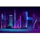 Night City Futuristic Landscape Vector Background - GraphicRiver Item for Sale