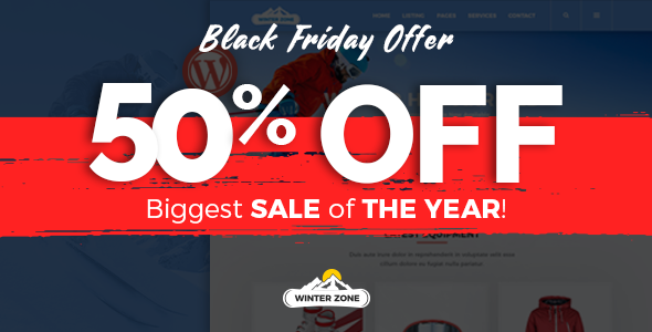 WinterZone – Ski & Winter Sports WordPress Theme - Business Corporate
