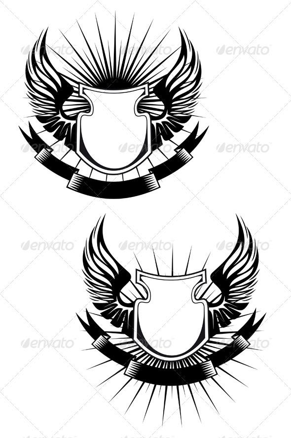 Heraldic shield - Religion Conceptual