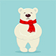 Polar Bear with Red Scarf - GraphicRiver Item for Sale