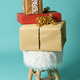 fluffy poof with christmas gifts - PhotoDune Item for Sale