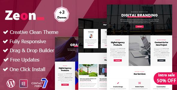 Zeon - Creative Multi-Purpose WordPress theme - Portfolio Creative