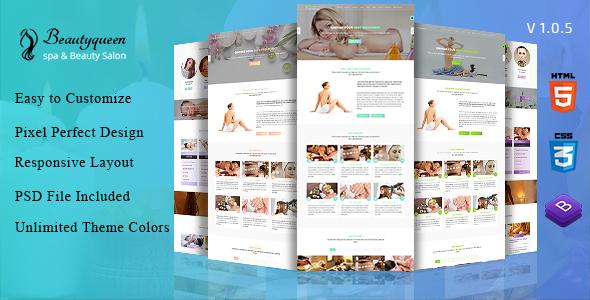 Beautyqueen -  Spa & Beauty Salon HTML5 Template