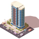 Office Building with Parking and Cars - GraphicRiver Item for Sale